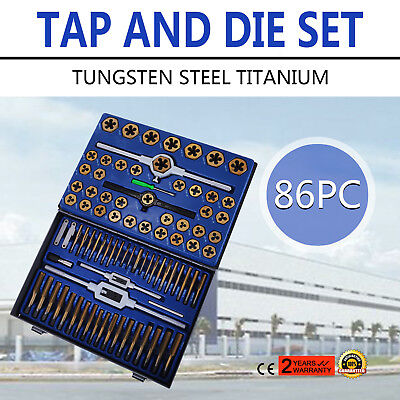Tap And Die Set 86 Pieces Sae And Metric Wstorage Case Threading Tool Set Best