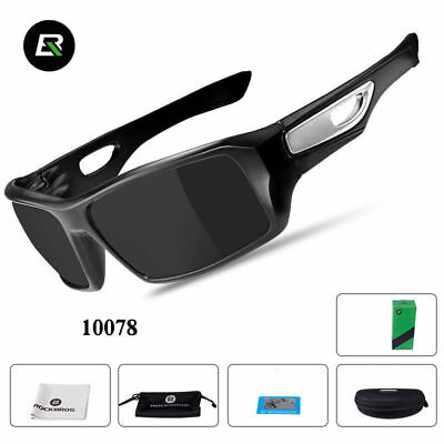 ba38c8ebcb1 RockBros Polarized Full Frame Cycling GF352 Glasses Bike Goggles Black Gray