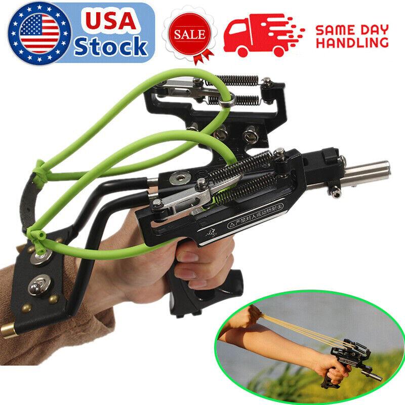 Pro Hunting Fishing Slingshot Heavy Duty High Velocity Catapult Laser Shoot Set