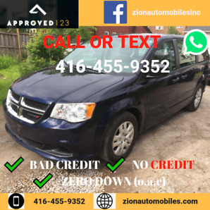WE FINANCE ALL CREDIT ! 2015 Dodge Grand Caravan SE with 74,000