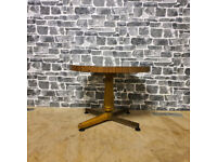 Round Low Table, Metal Legs
