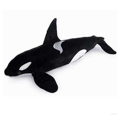 New 51 Giant Simulation Black Shark Killer Whale Plush Toy Stuffed Animal Doll
