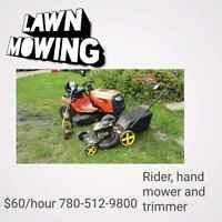 No time for mowing?
