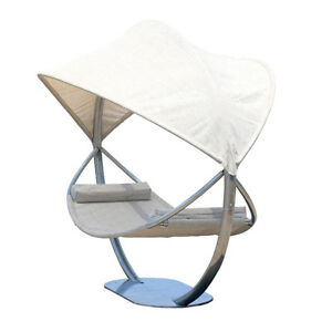 STEEL HAMMOCK STAND WITH HAMMOCK AND CANOPY, YARD, TERRACE