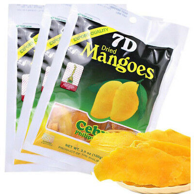 5 Packs 7D Dried Mango Philippines Products Casual Snacks Mango Dried Fruit Food