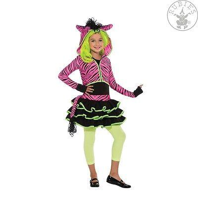 Neon Pink Zebra Kostüm S-L Hoody Punk Fantasy - Neon Zebra Kostüm