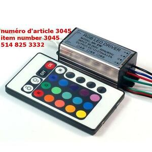 10W High Power RGB LED Driver with Infrared Controller