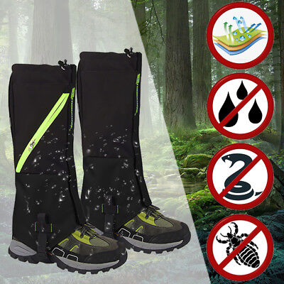 Outdoor Hiking Hunting Snow Sand Snake Waterproof Boots Cover Legging -