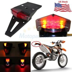 Dirt Enduro Bike LED Rear Fender Brake Tail Light Turn Signal Off-road For KTM