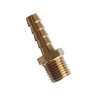 6 Pcs Brass Male Straight Barb Fitting Hose 14 Id 14 Npt Water Fuel