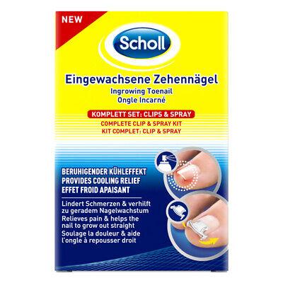 Scholl Eingewachsene Zehennägel Clips & Spray Fußnagel Fußpflege 1 Stück