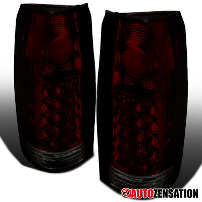 For 88-98 Chevy GMC C/K C10 Silverado 1500 2500 Red/Smoke LED Tail Lights Lampss