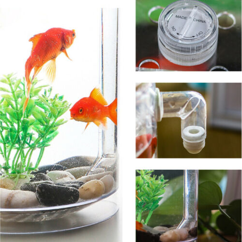 Creative Ecology Mini LED Fish Tank Luminous Glass Tank Aquarium Fish Tank 8