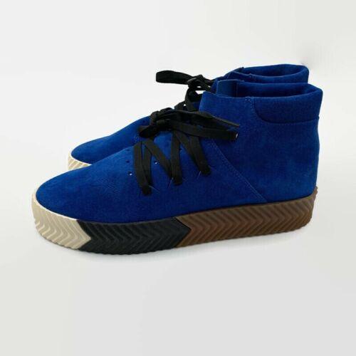 Adidas X Alexander Wang Blue Suede Gum AW Skate Mid Shoes AC