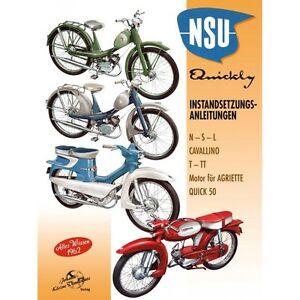 NSU QUICKLY Modelle Instandsetzungsanleitung Reparaturanleitung Handbuch Buch