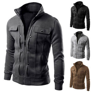 Motorcycle-Style-Punk-New-Mens-Casual-Slim-fit-Blazer-Coat-Jacket-Outerwear-Top