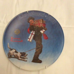 Norman Rockwell & Trisha Romance collectable plates