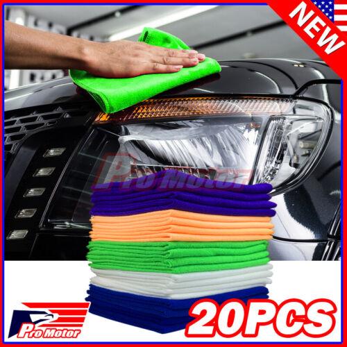 20 Pack Microfiber Cleaning Cloth No-Scratch Rag Car Polishing Detailing Towel