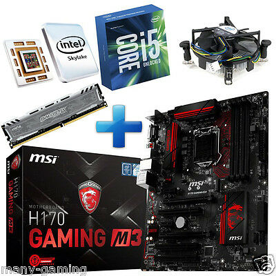 PC Bundle AufrüstKit Intel I5-6400 Skylake (4x 2,7GHz) MSI H170 Gaming 8GB-DDR4