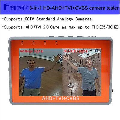 Eyoyo W43atc 4.3 Lcd Ahdtvicvbs Analogy Cctv Camera Tester Portable Test Tool