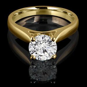 Diamond engagement ring 1.50CT Bague de fiançailles en diamant