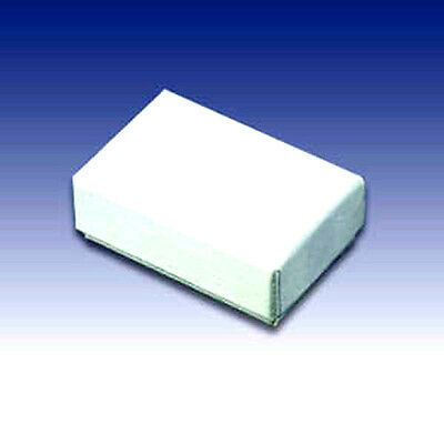 100 White  Cotton Filled Jewelry Gift Boxes 2 x 1 1/2