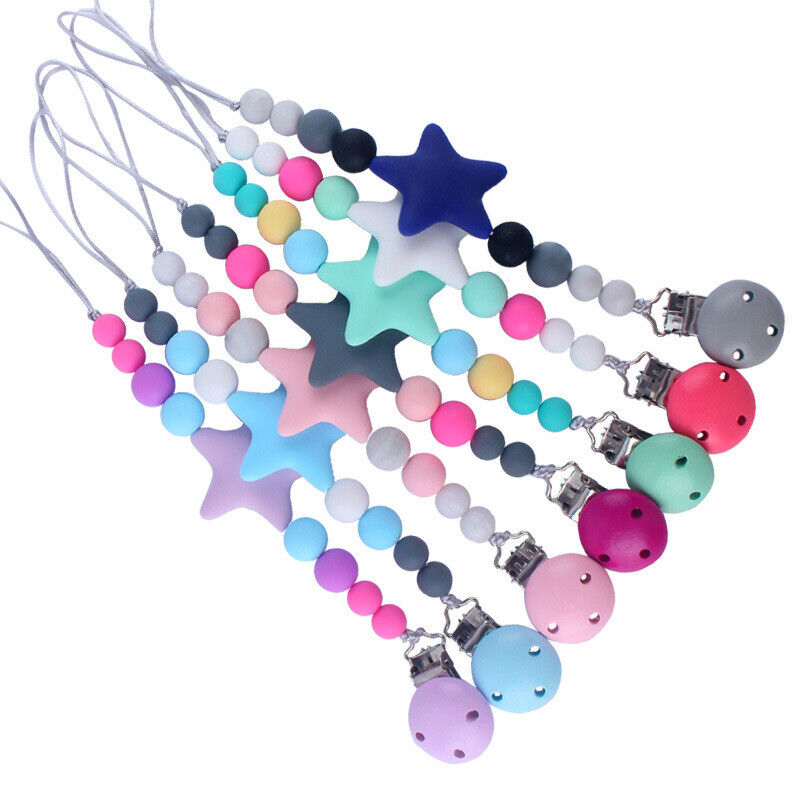 Dummy Clips Baby Boys Girls Soother Teether Chain Holder Teething Pacifier Strap