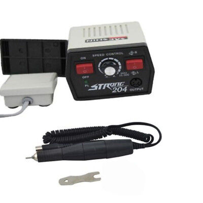 204 Lab Micromotor Eléctrico Maratón Pulidora Dental 40K pulido pieza de mano...