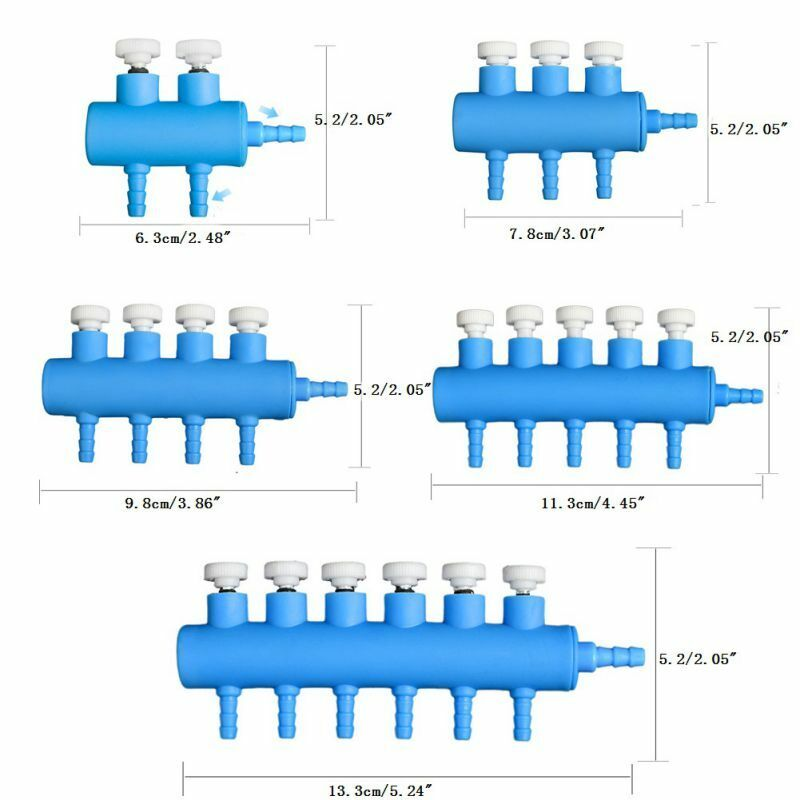 Aquarium 2/3/4/5 Way Gang Valve- Manifold Air Flow Control Distributor Air Pump