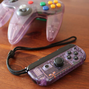 "CUSTOM Nintendo Switch ""atomic purple"" Right Joycon"