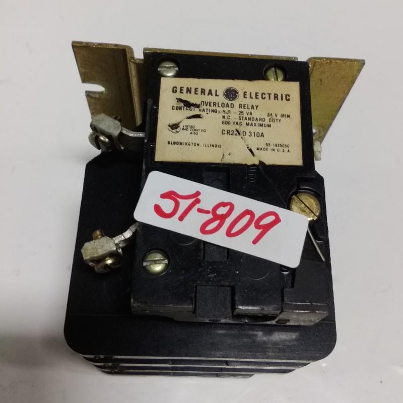 GENERAL ELECTRIC 25VA OVERLOAD RELAY CR22 ?D 310A