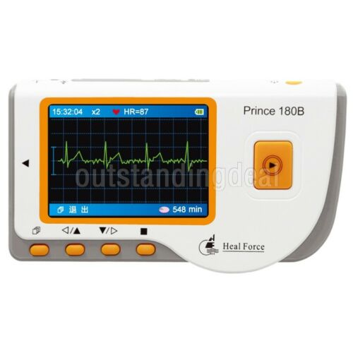 HEAL FORCE PRINCE 180B Handheld Easy ECG EKG Heart Monitor Software USB#
