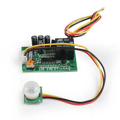 NEW High sensitivity 12V PIR Motion Sensor Detector Module with Relay -