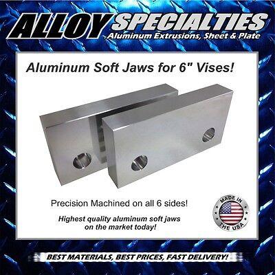 1 X 3 X 6 Fully Machined Premium Aluminum Soft Jaws For 6 Kurt Vise