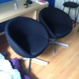 Black IKEA desk chair.