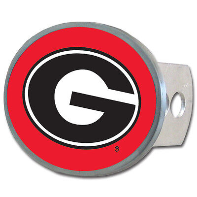 Georgia Bulldogs Metal Oval Hitch Cover NCAA Licensed