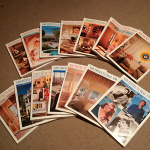 Architectural Digest magazine 1999 mint condition (set of 14)