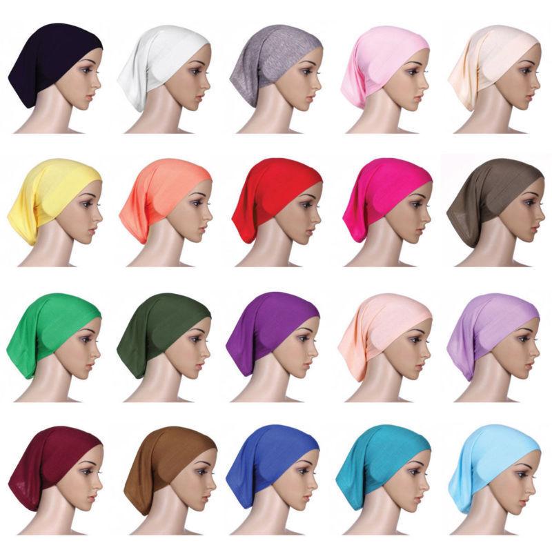 Stretchble Muslim Inner Hijab Caps Islamic Underscarf Beautiful New Soft Hats