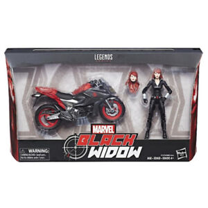 Marvel Legends Black Widow with Motorcycle  6 inch