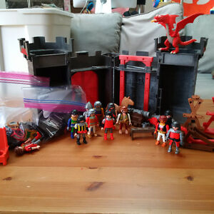A whole bunch of Playmobile