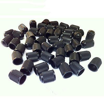 40Pcs Plastic Auto Parts Truck Motorcycle Tire Stem Black Air Valve Caps CoverBH