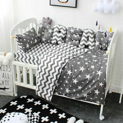 Baby Bedding Set Cotton Soft Breathable Crib Kit Custom Made Letters Bumpers Custom Made Crib Bedding