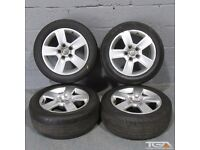 "16"" Audi A4 5 Spoke Alloy Wheels will fit Audi A4, A3, VW Golf MK5, MK6, MK7, Jetta, Caddy Van"