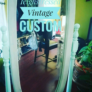 Antique mirror with stand