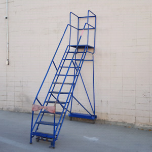 Rolling ladder. New cond. Many sizes . $50 per step. READ AD