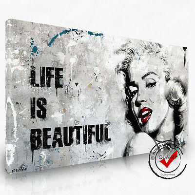 Marilyn Monroe,Leinwand Pop Art Dig. Gemälde Bild Bilder Wandbild Kunstdruck ()