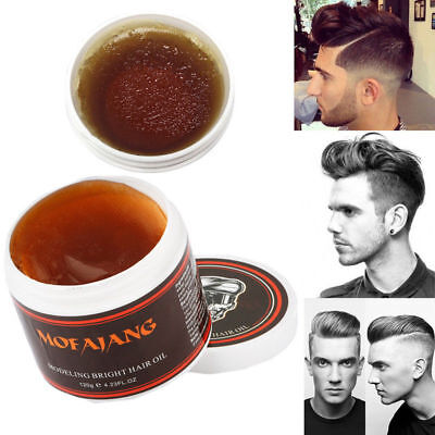 MEN Male Hair Wax Style Retro Hair Oil Hair Pomade Clay Mat Party Style 120g