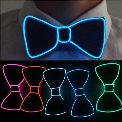 Men's LED EL Wire Necktie Luminous Neon Flashing Light Up Bow Tie For Club Party](Led Necktie)