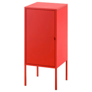For Sale: Like New Ikea Lixhult Cabinet: Red