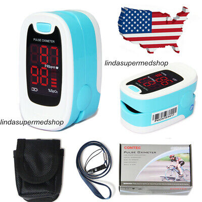 Fingertip Pulse Oximeter Blood Oxygen Spo2 Monitor Caselanyard Newest 2020 Usa